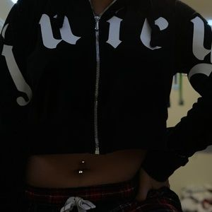 Juicy Couture Cropped Zip Up
